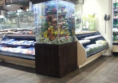 Supermarkets aquarium fish tank